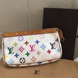 Authentic Lv Pochette multi color